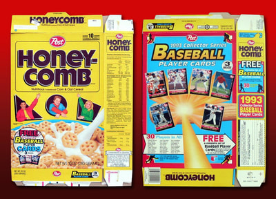 sample of 1993 cereal box that the cards were inserted into. For more - see cereal boxes gallery.